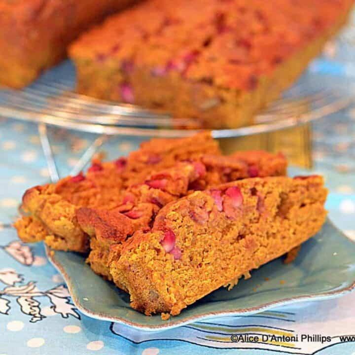 Pumpkin Pomegranate Walnut Bread