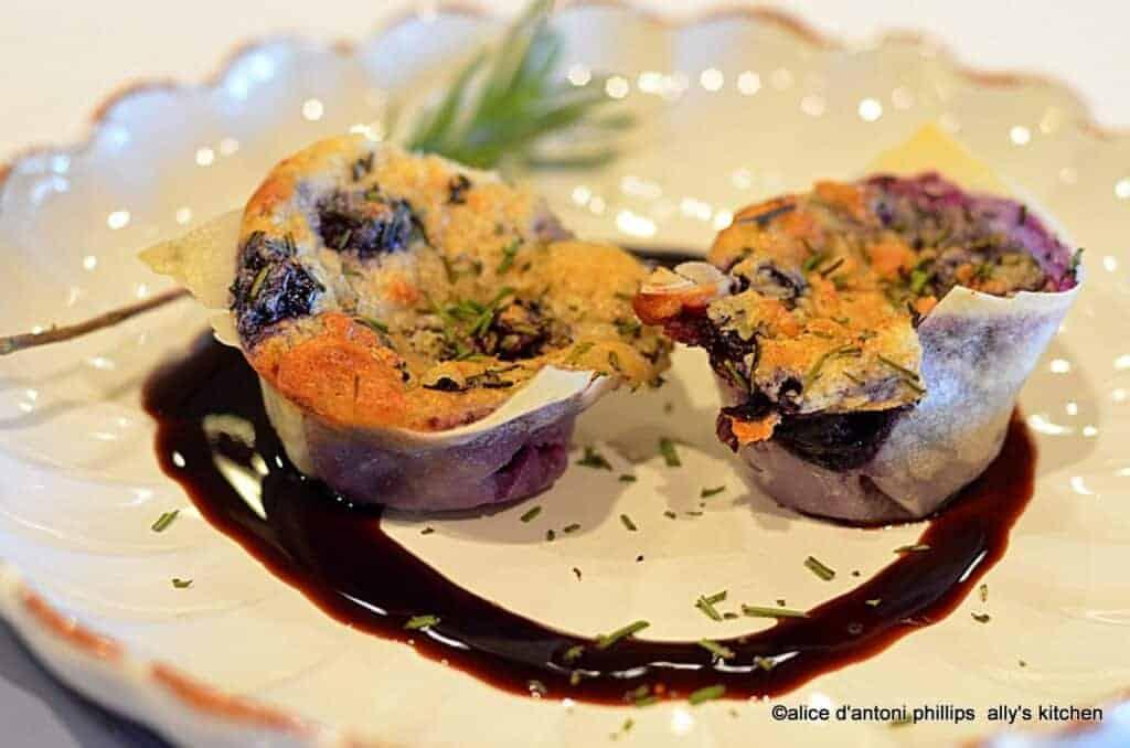 Springroll Blueberry & Rosemary Puffs