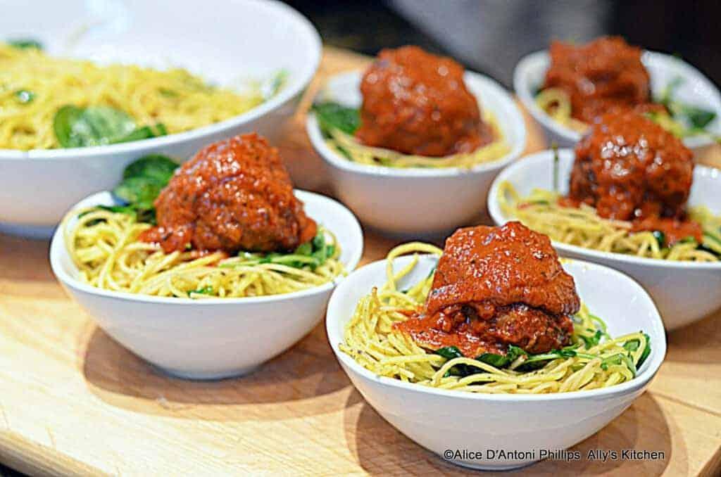 Moroccan Meatballs & Lemon Pepper Angel Hair Pasta