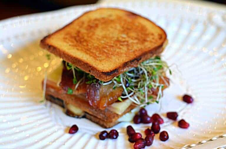 Pomegranate Grilled Cheese