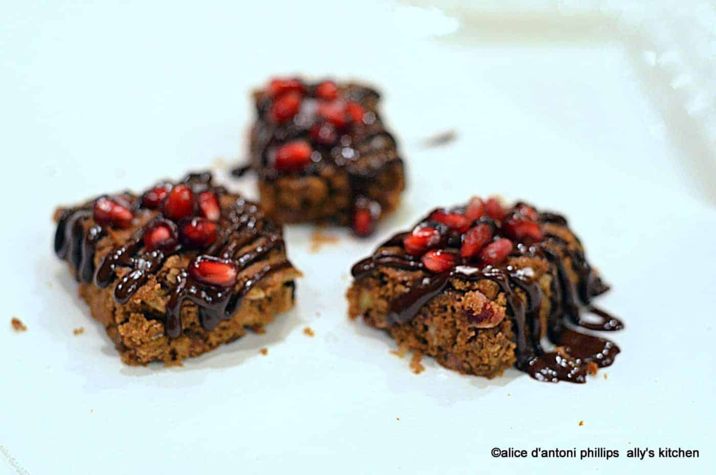 Bourbon Chocolate & Pomegranate Cake YummmeeZ