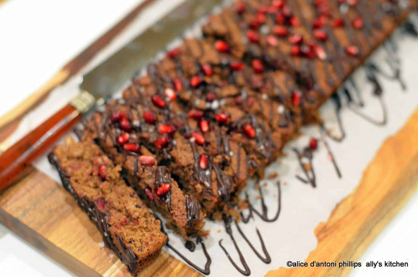 Bourbon Chocolate & Pomegranate Cake YummmeeZ