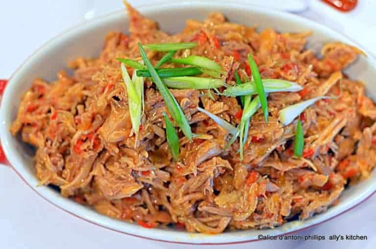 sweet pepper relish bbq pork