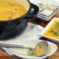 Leek Potato & Roasted Pepper Soup