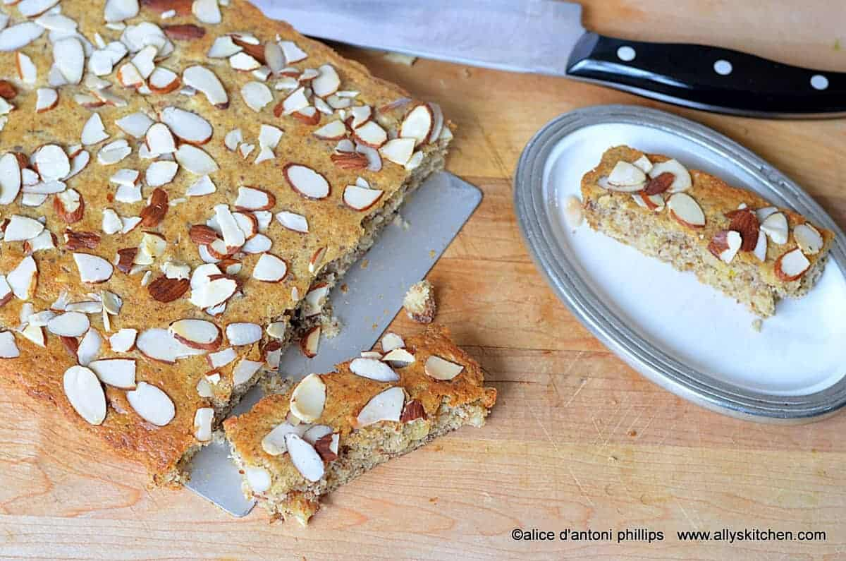 brown sugar almond banana cake