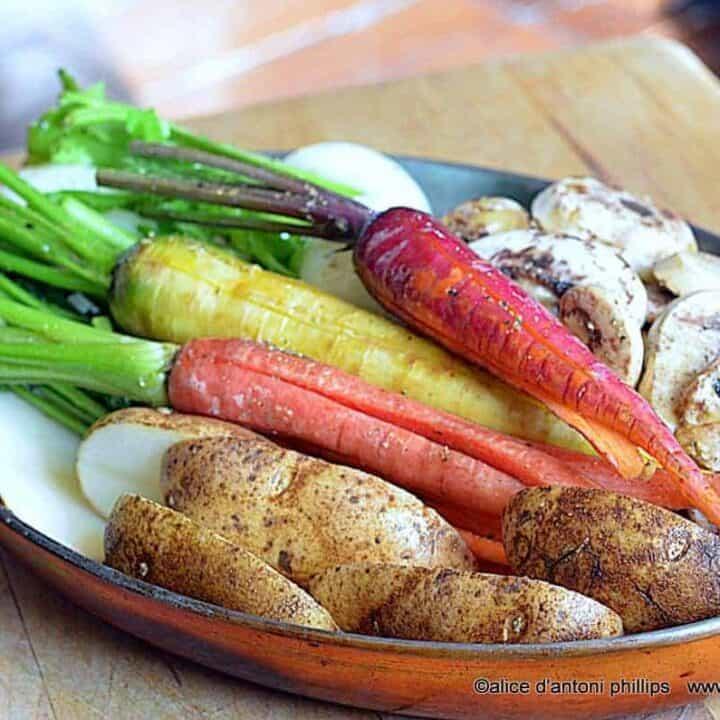 ~roasted caramelized farm veggies~
