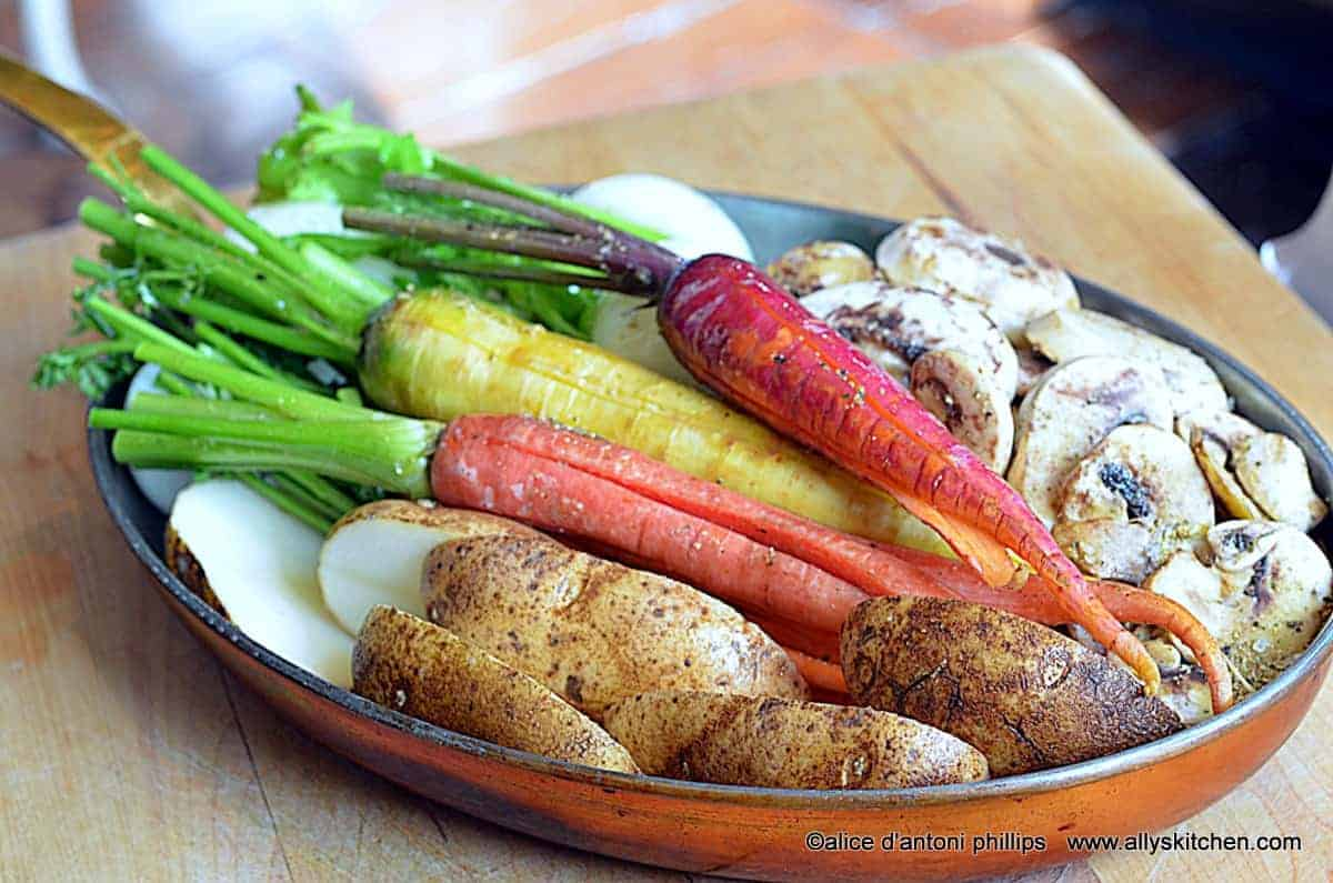 ~roasted caramelized farm veggies~