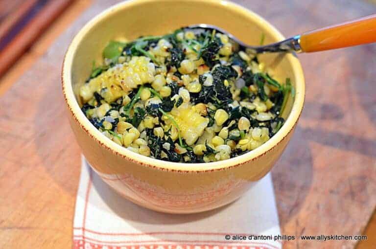 tuscan kale watercress roasted corn