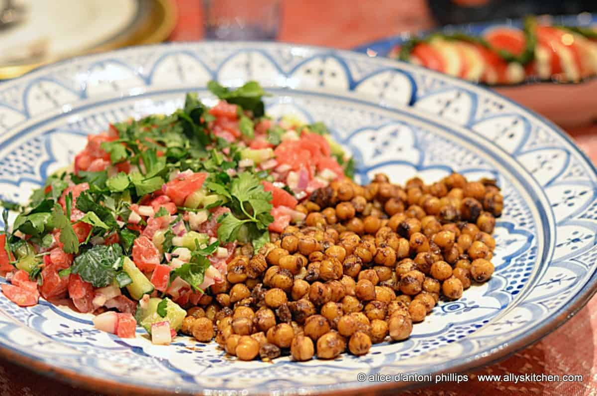 ~spiced chickpeas & crunchy vegetables~