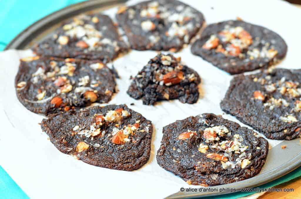 ~chocolate almond joy spoon cookies~