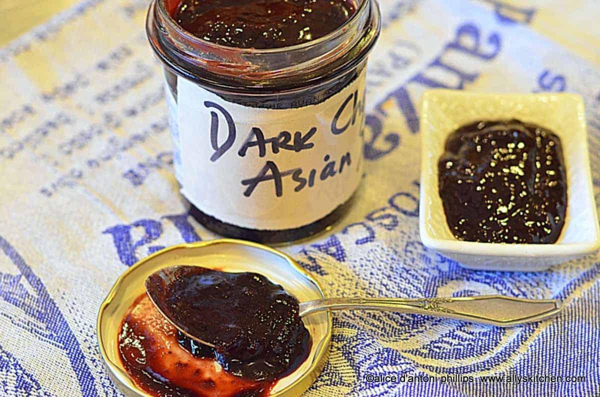dark red cherry bbq sauce