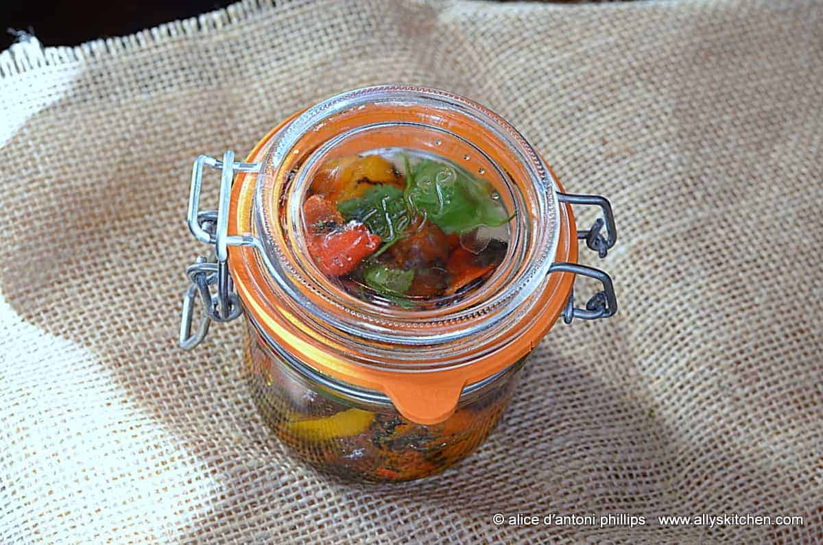 ~roasted baby peppers with cumin & cilantro~