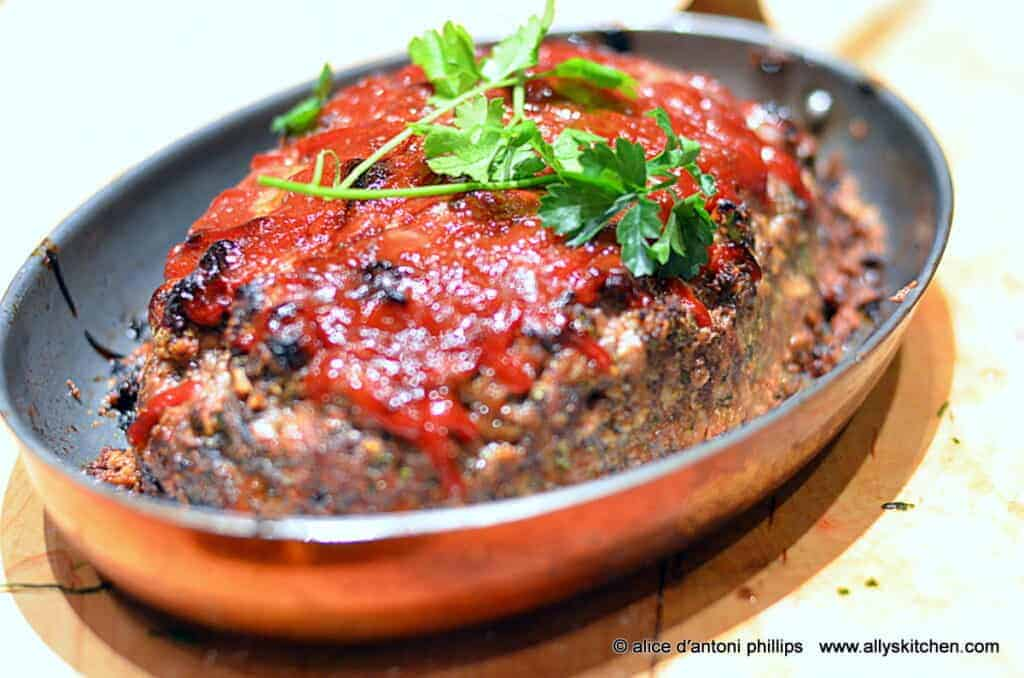 italian inspired bison meatloaf
