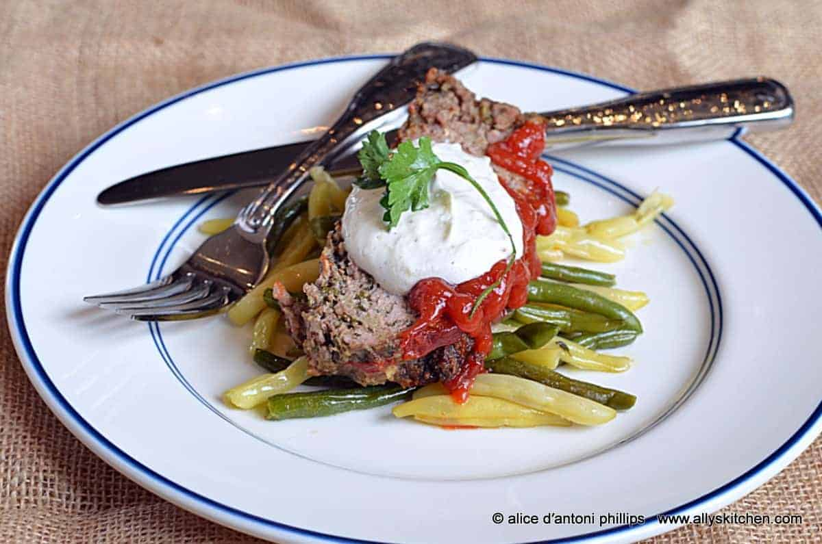 ~italian inspired bison meatloaf~