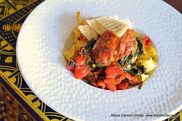 ~kale meatball wraps~