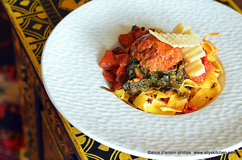 ~kale meatball wraps~
