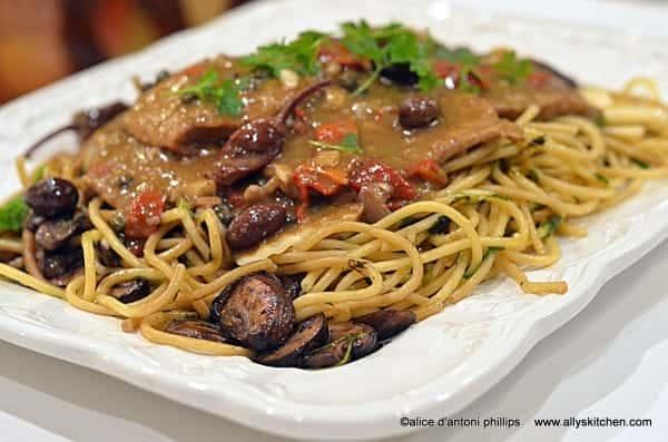 ~garam masala veal & pasta~