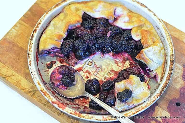 cherry & blackberry galette