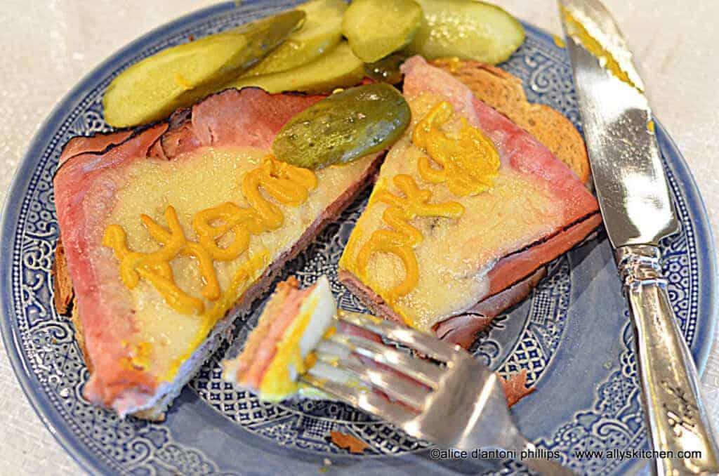 ~ham & baby swiss on rye~