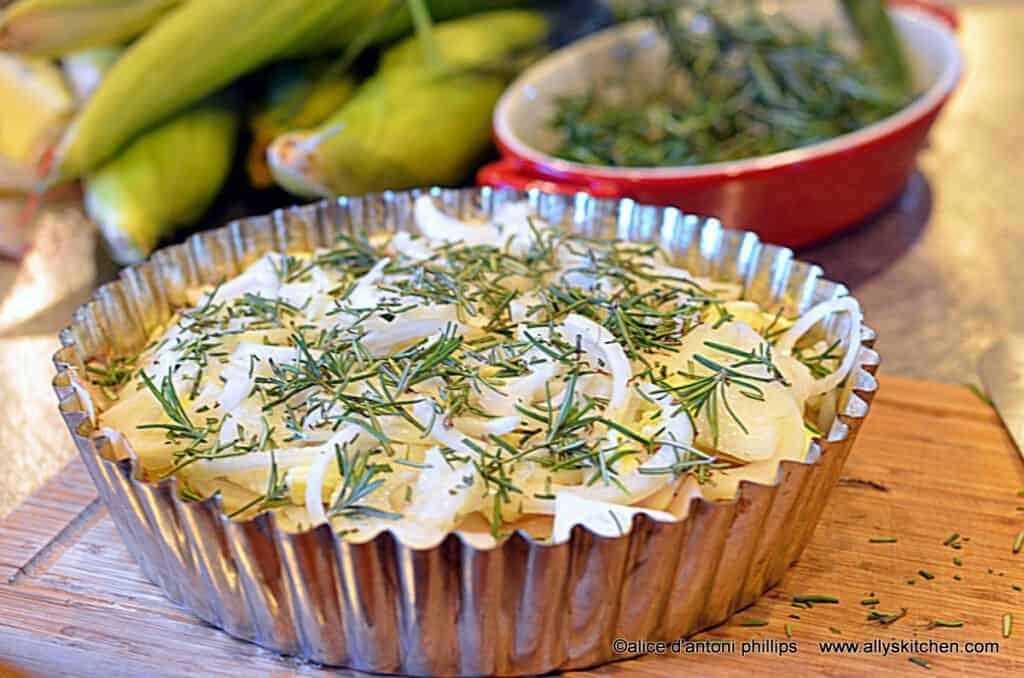 potato fennel onion tart | potato recipes | ally's kitchen
