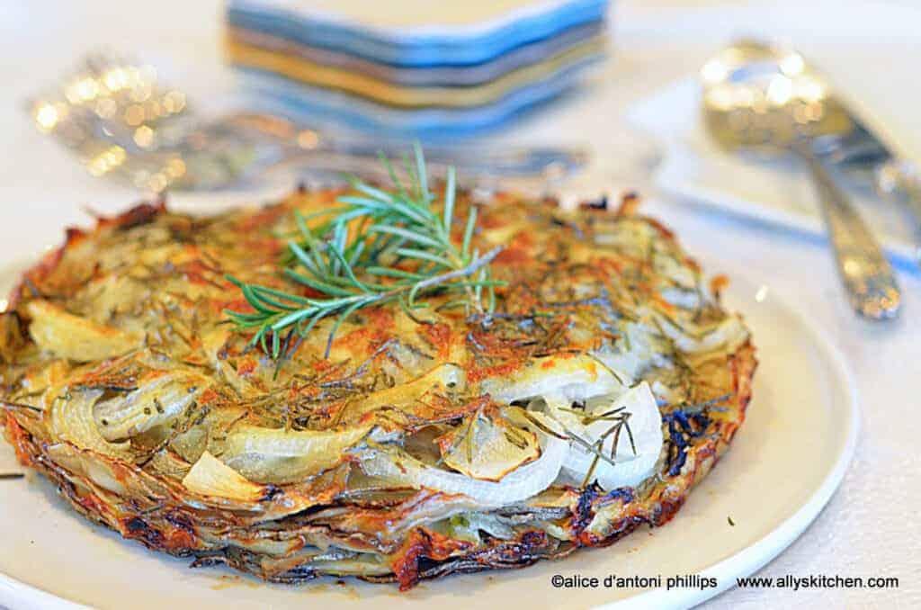 ~potato fennel onion tart~