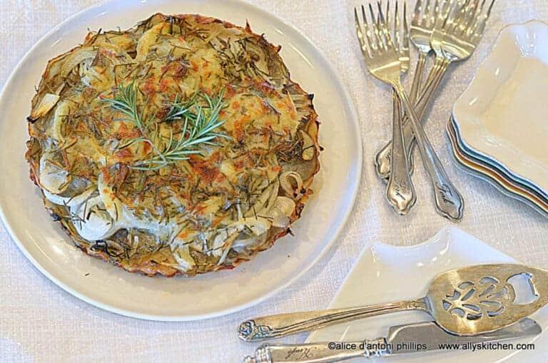 potato fennel onion tart