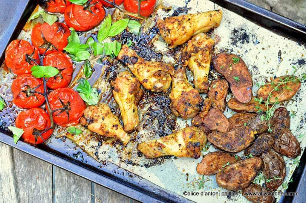 ~al fresco summer chicken tomatoes & purple potatoes~