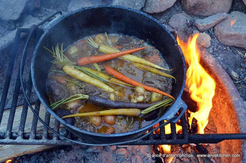 ~smoked ale campfire beef stew~