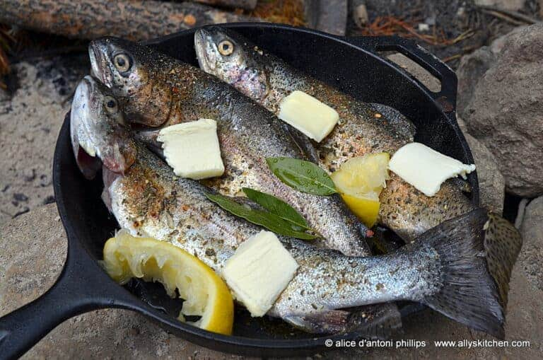 Skillet Steamed Fresh Mountain Trout