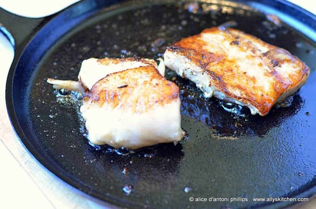 ~pan seared sea bass & mahi mahi~