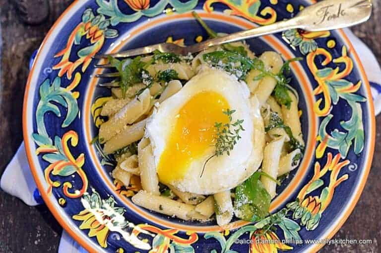Fresh Herb Arugula Penne Pasta & Parmesan