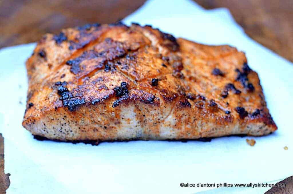 ~creole seasoned pan seared salmon~