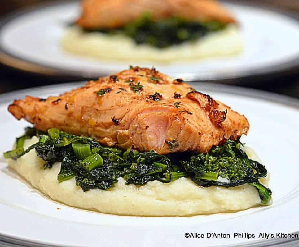 ~lemon thyme salmon & sides~