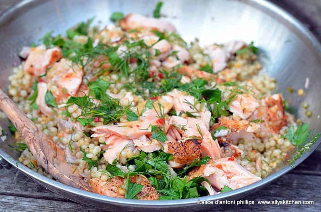 ~grilled salmon & couscous~