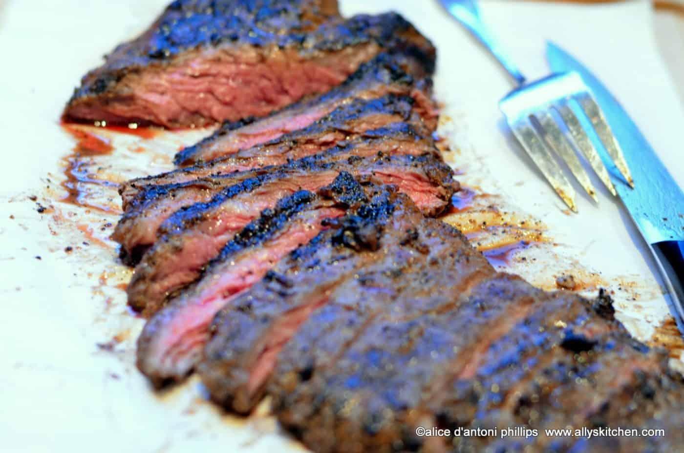 grilled spicy skirt steak