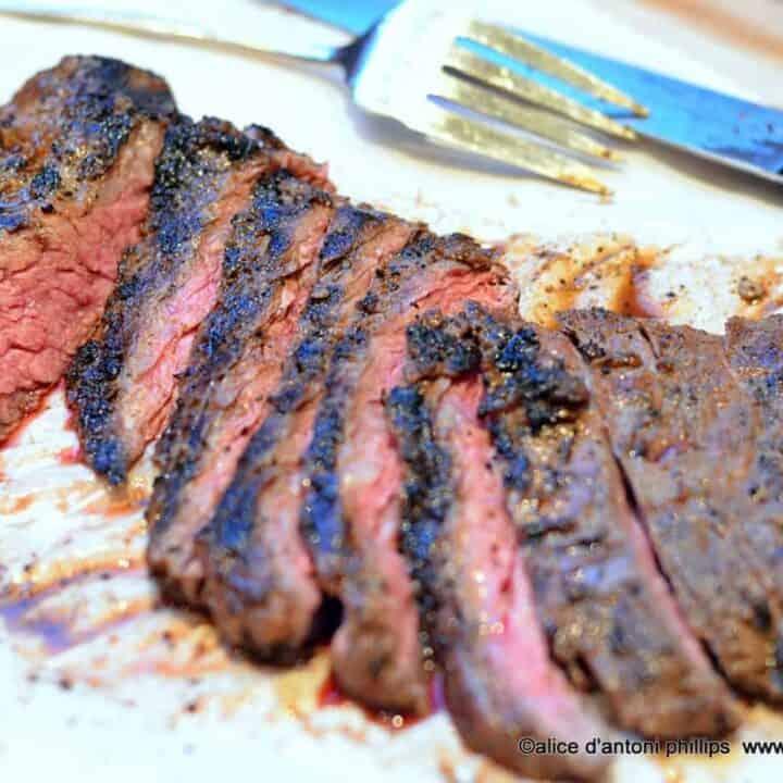 ~grilled spicy smokey skirt steak~