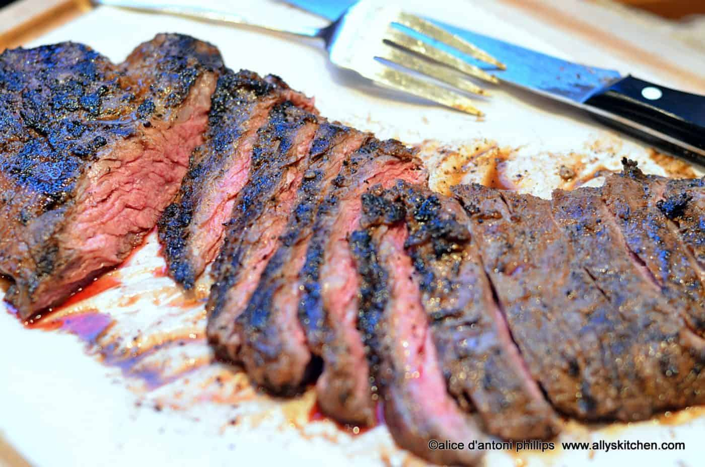 ... spicy skirt steak skirt steak long flat and it s usually folded