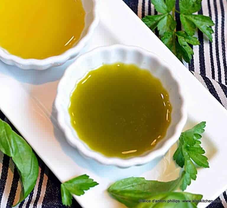 emerald green dipping olive oil