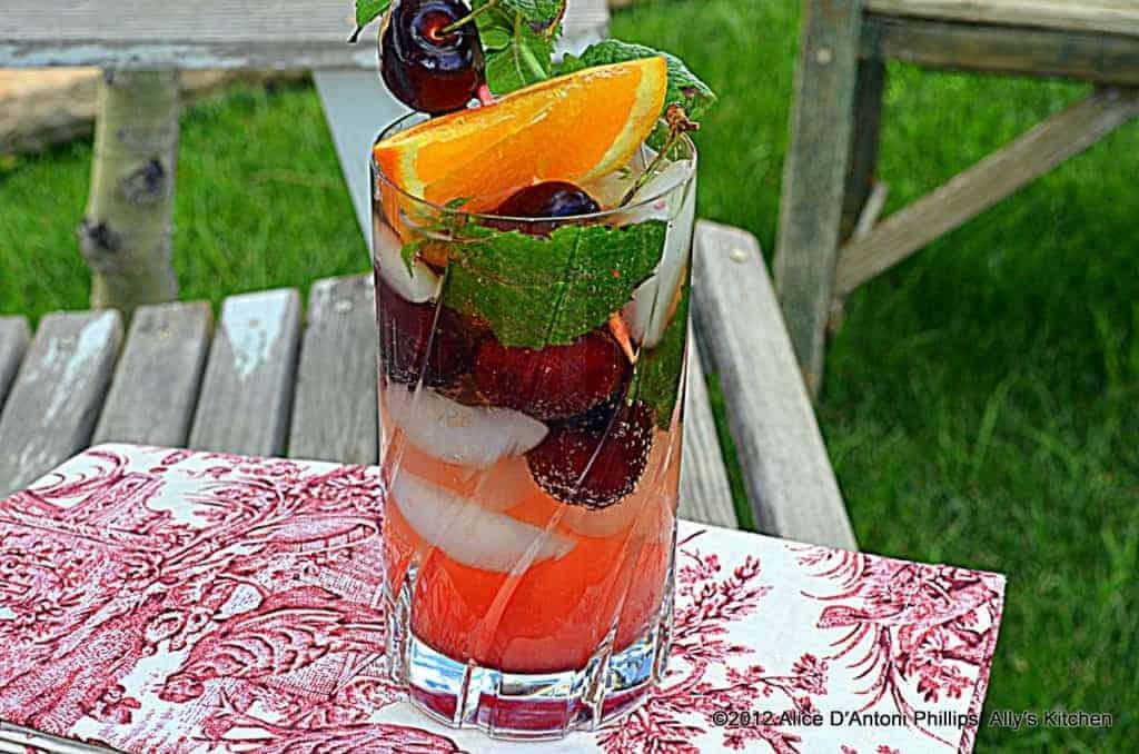 cherry ginger drink