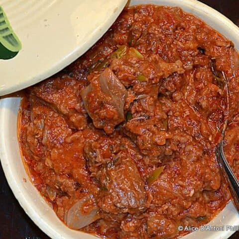 New York Strip Hot Smoked Paprika Red Wine Stew