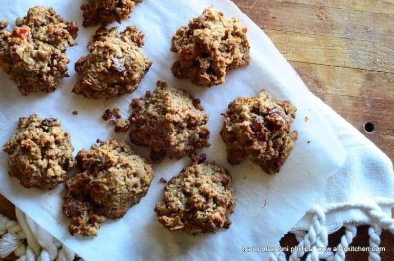 almond butter granola cookies