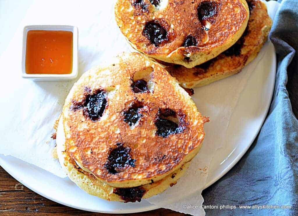 Sweet Dark Cherry Buttermilk Pancakes
