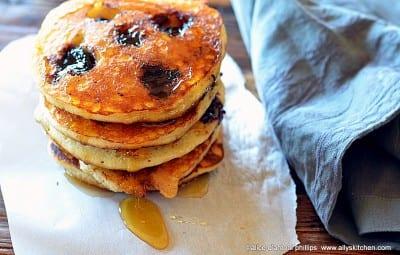Sweet Dark Cherry Buttermilk Pancakes