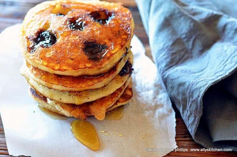 dark cherry buttermilk pancakes