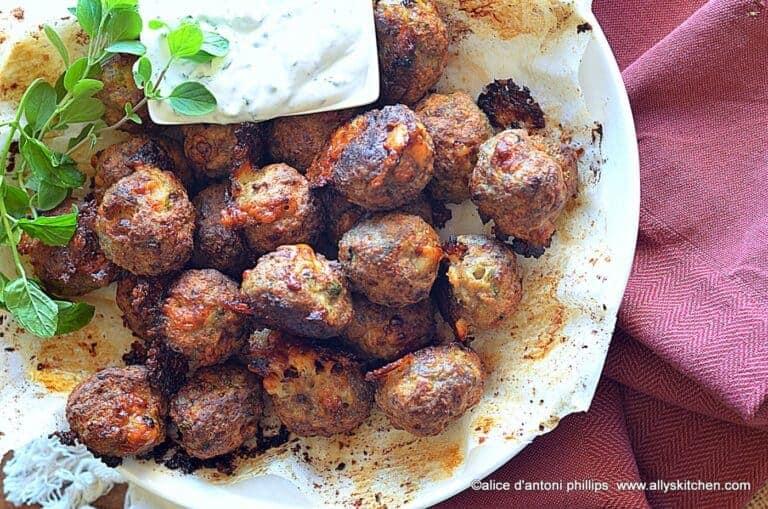 turkish lamb asiago meatballs