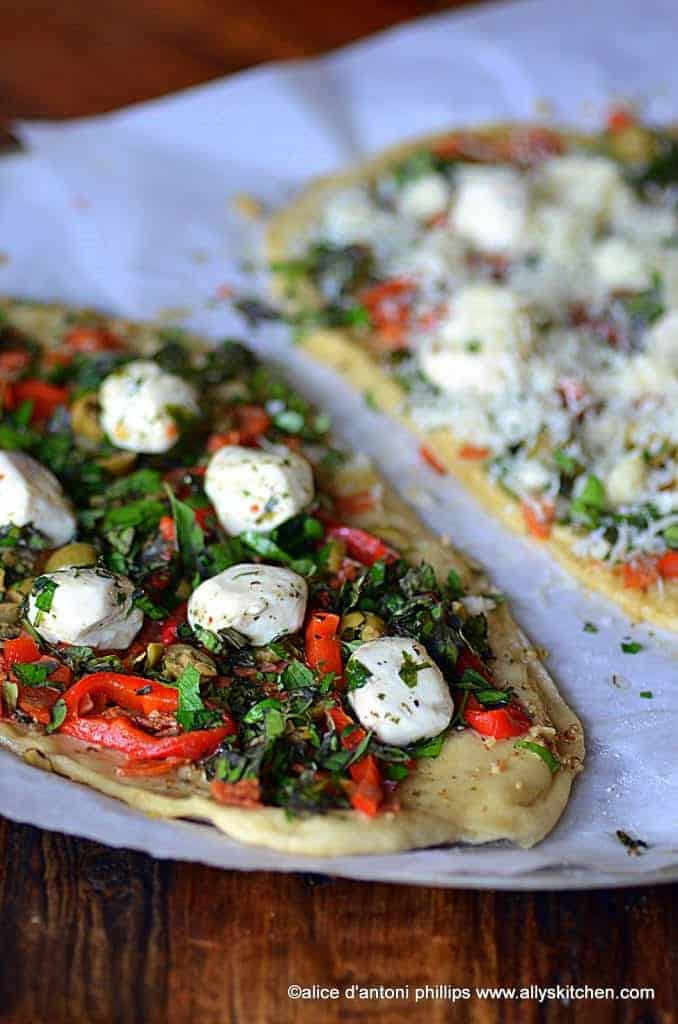 butter garlic herb pizza