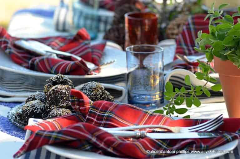 cozy holiday tables