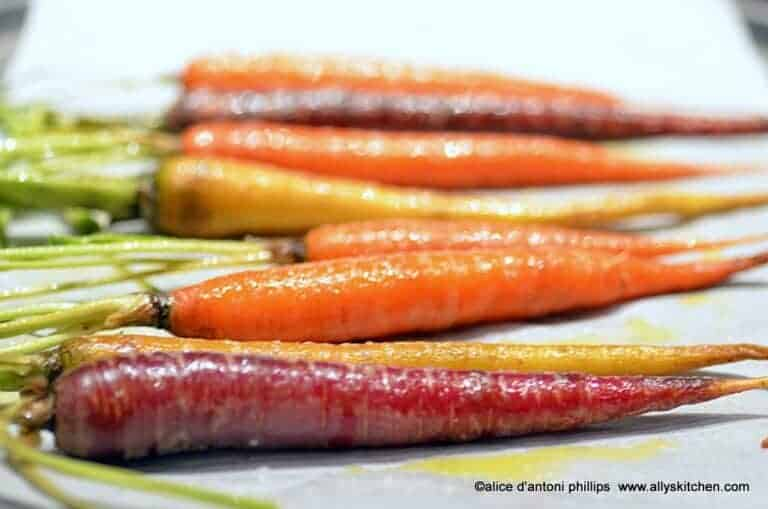 roasted maple dijon carrots