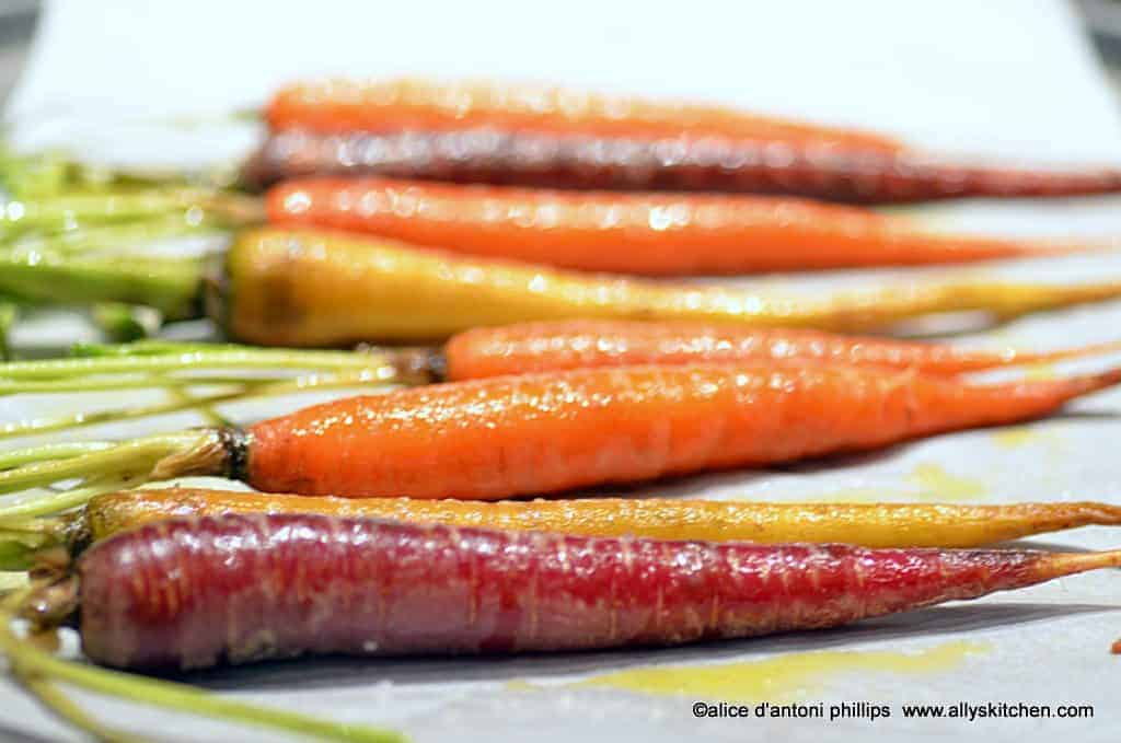 roasted maple dijon carrots