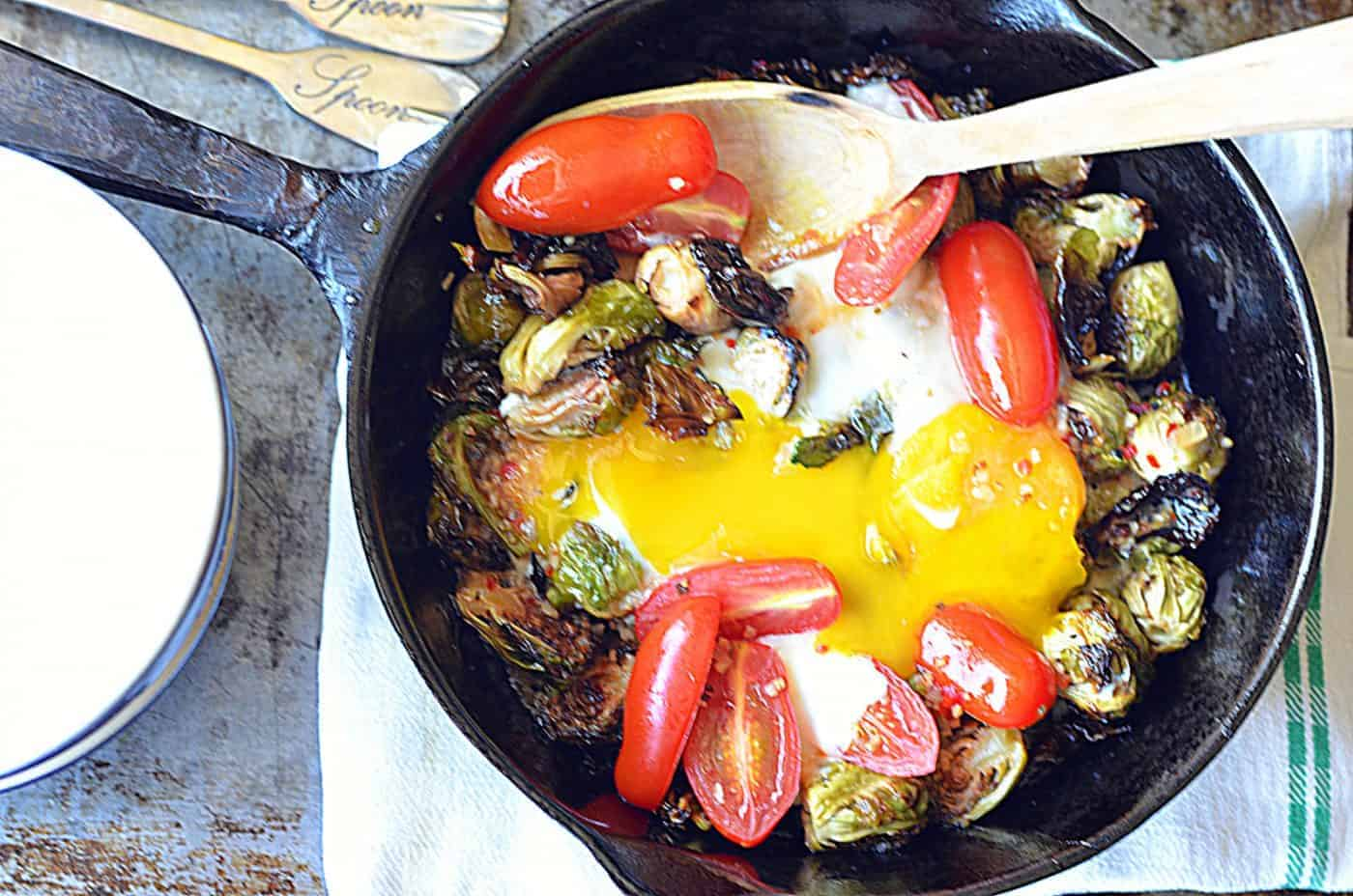 brussels sprouts & eggs